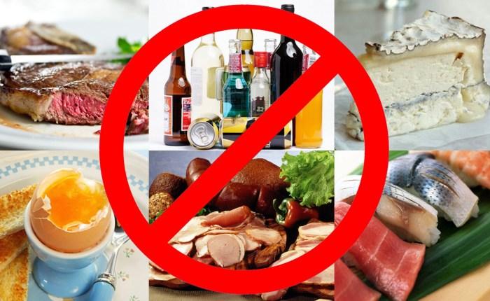 Вредные продукты для беременных список продуктов